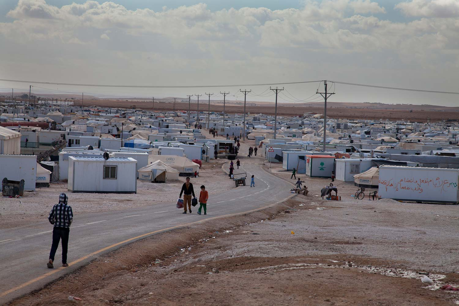 Refugees at the Syrian border. USHMM/Lucian Perkins.